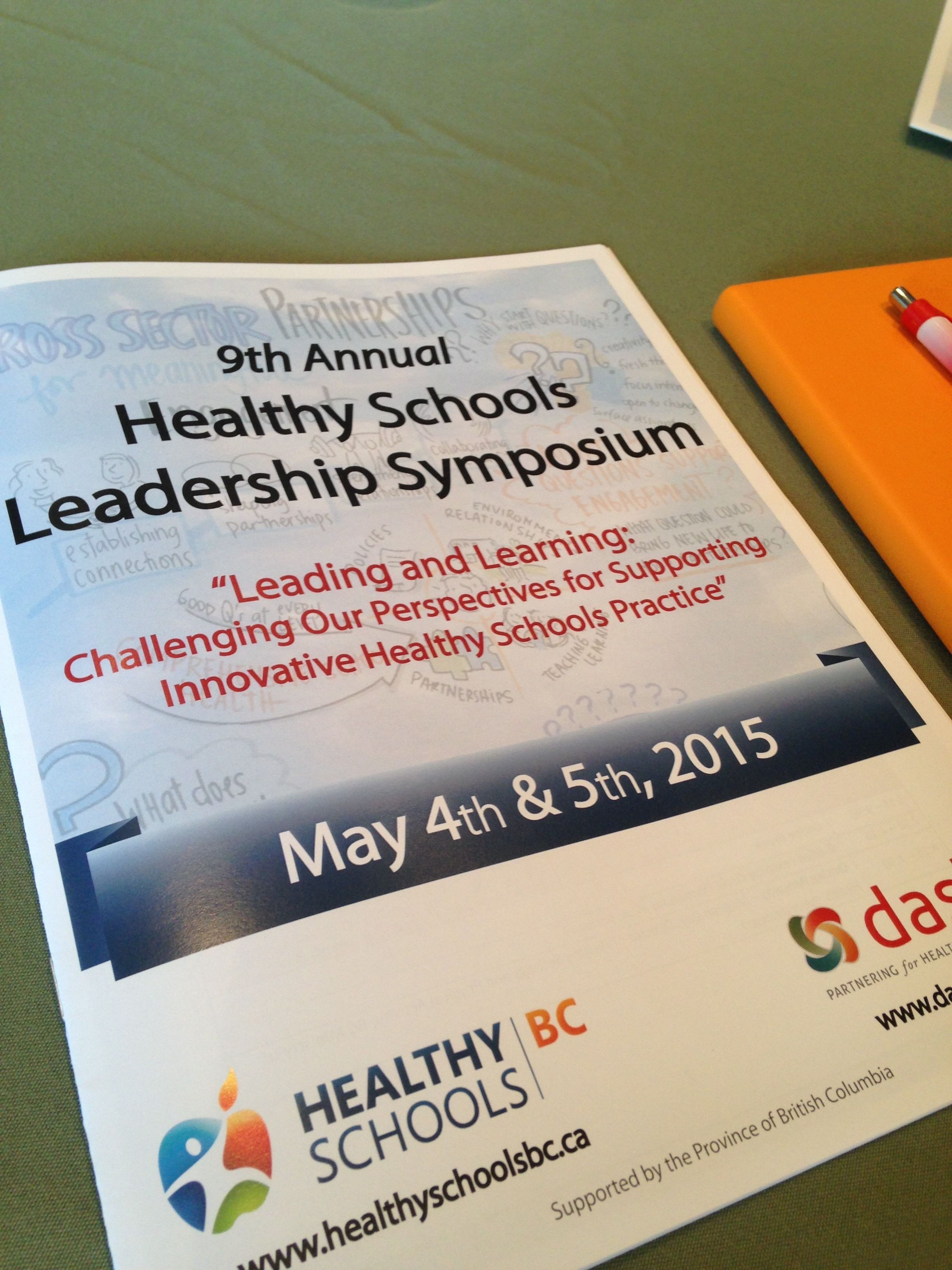 graphic recording on the cover of healthy schools leadership symposium program