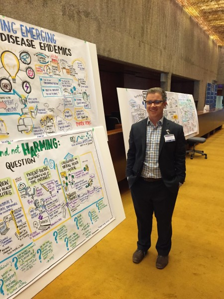 Sam Bradd graphic recording World Health Organization