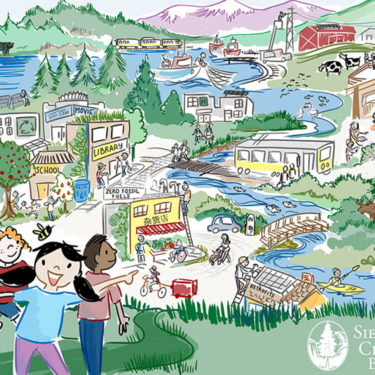 illustration low carbon future youth