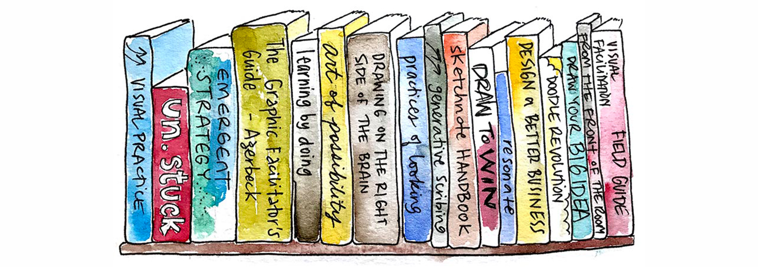 illustration of books side by side