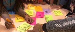 hands sketch-noting Oxfam Nepal