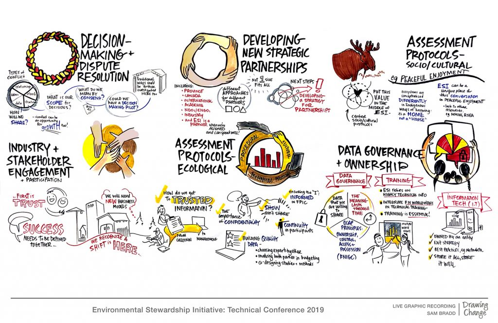 ESI environmental Stewardship Initiative conference graphic recording breakout sessions