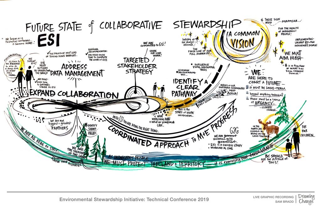 ESI environmental Stewardship Initiative conference graphic recording