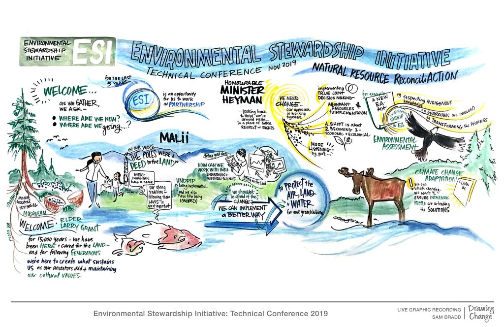 ESI environmental Stewardship Initiative conference graphic recording opening remarks