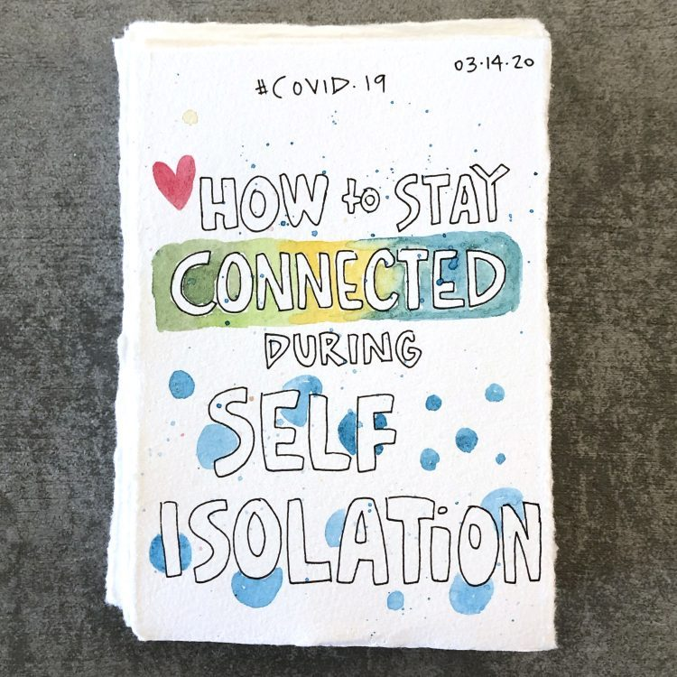watercolour painting of how to stay connected during self isolation