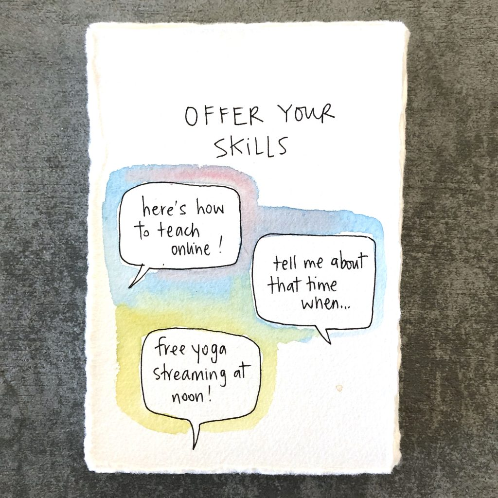 offer your skills