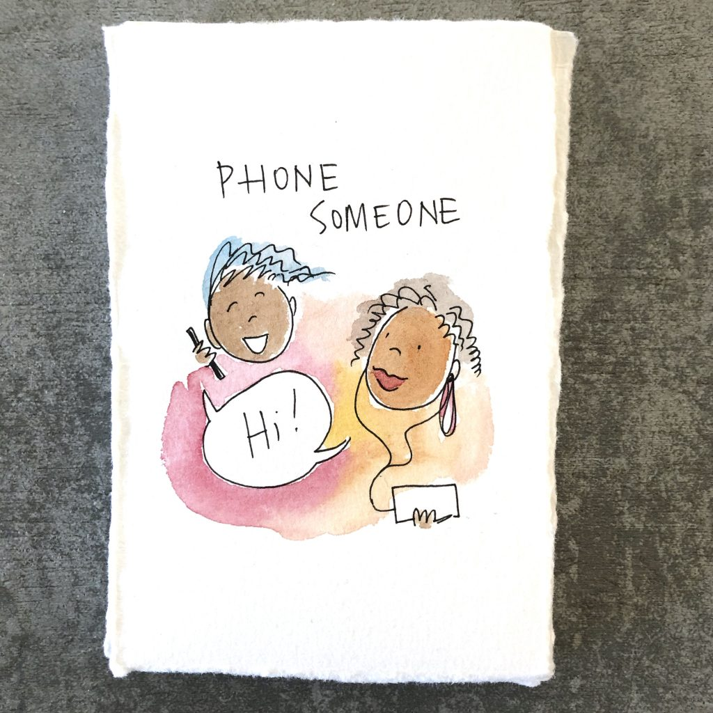 phone someone