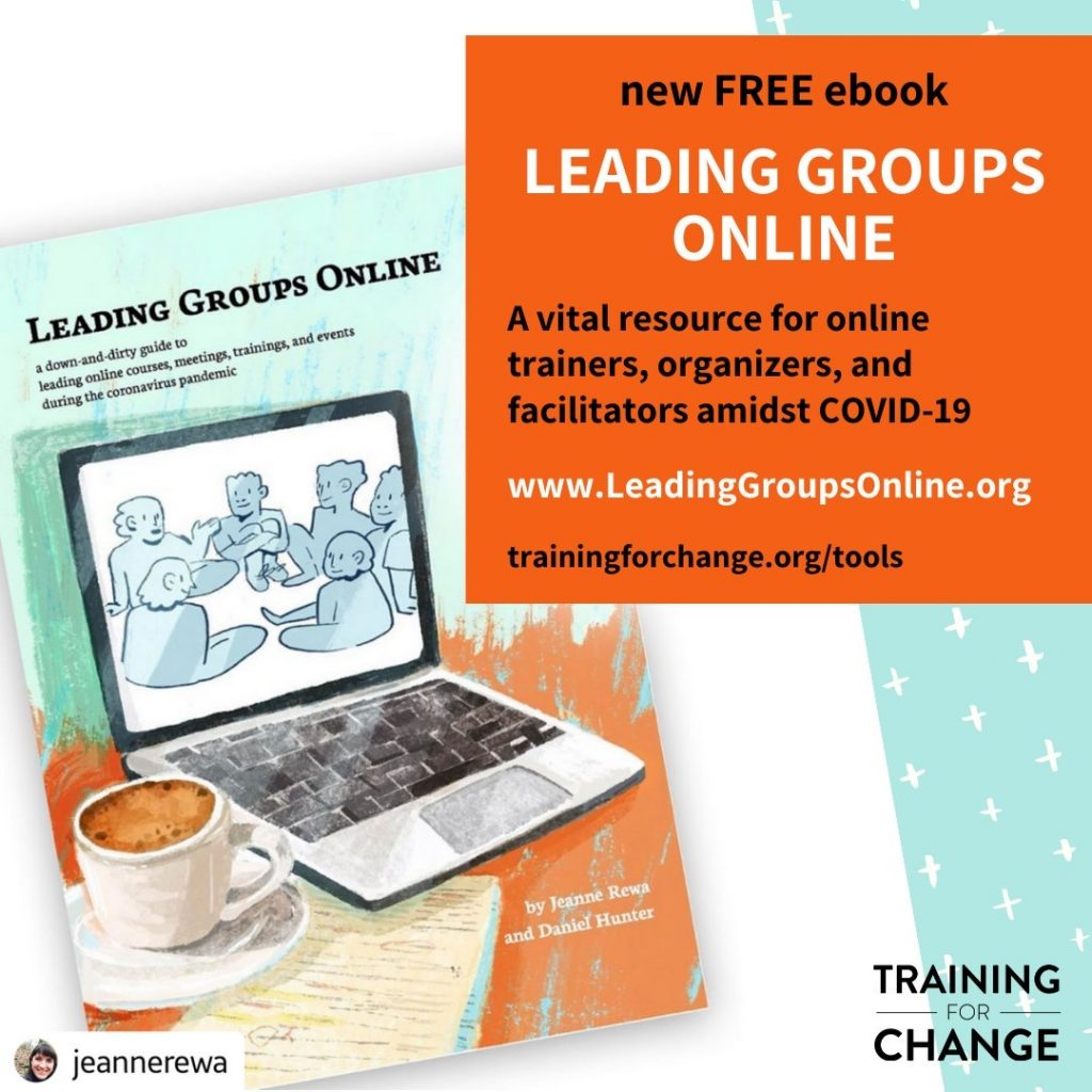 leading groups online - free book from training for change