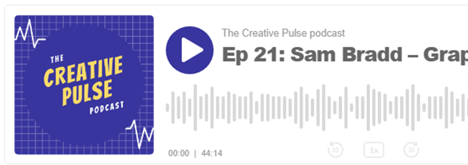 graphic recording podcast sam bradd creative pulse