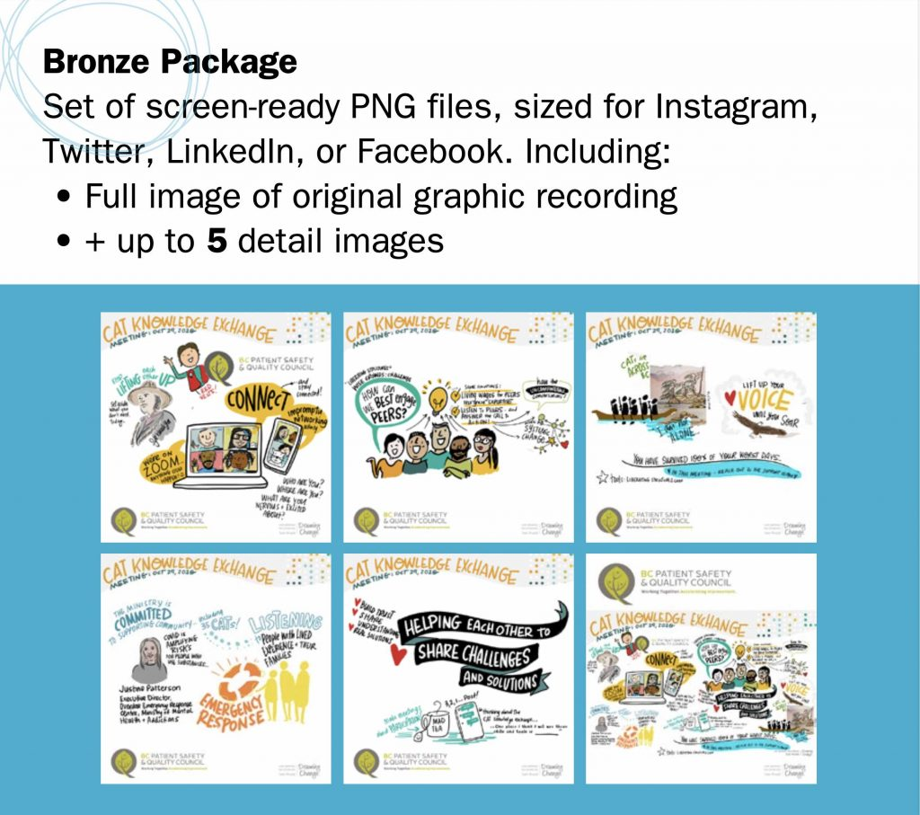 Bronze Package - drawing change graphic recording social media packages
