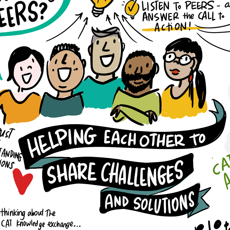 Community Action Team (CAT) Knowledge Exchange Opioid Crisis Resources graphic recording from BCPSQC