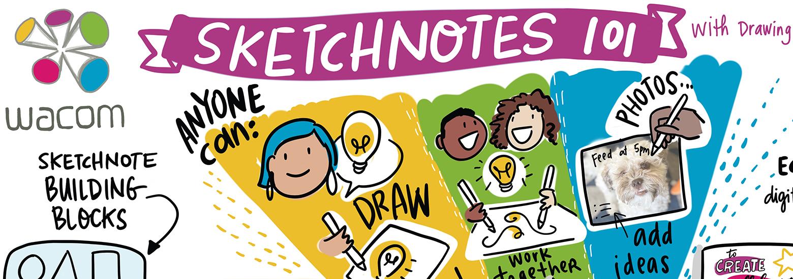 Wacom Canada sketchnote Wacom One Drawing Change